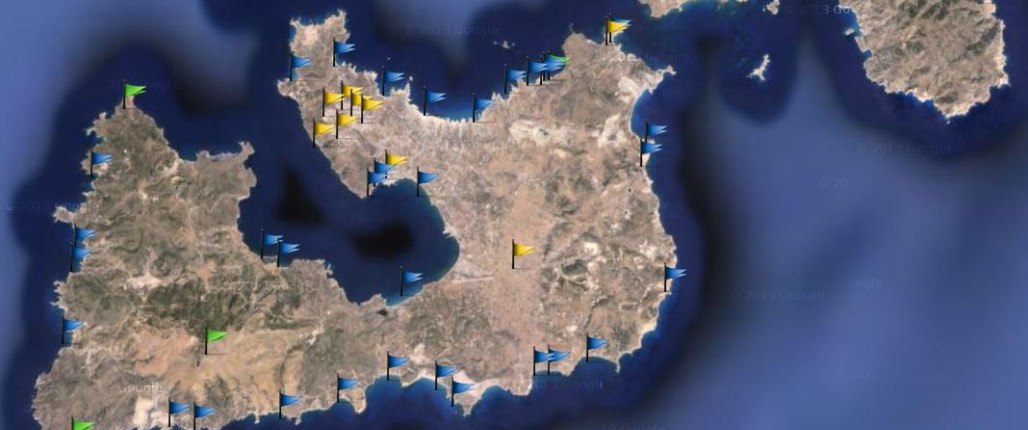 Milos Map with beaches, villages and accurate location of all attractions.   maps.milos-greece.com