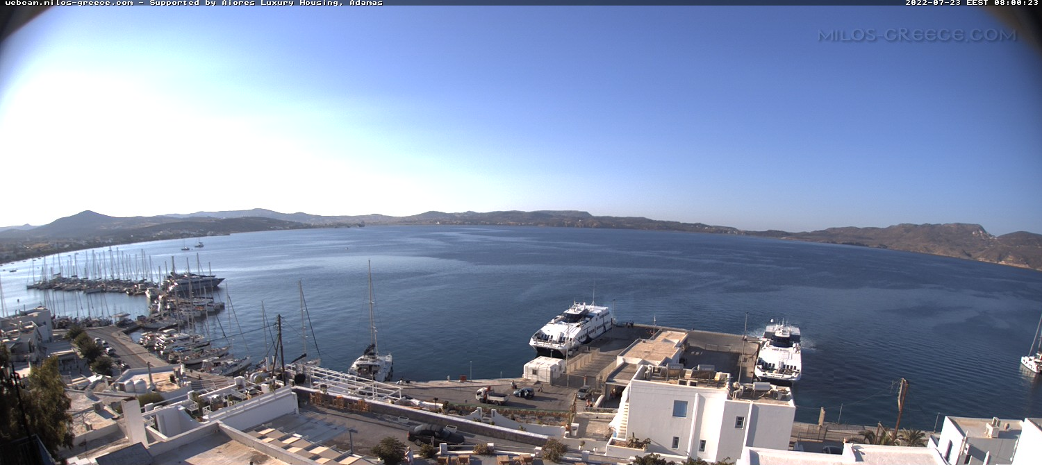 Milos Live Webcam in Adamas